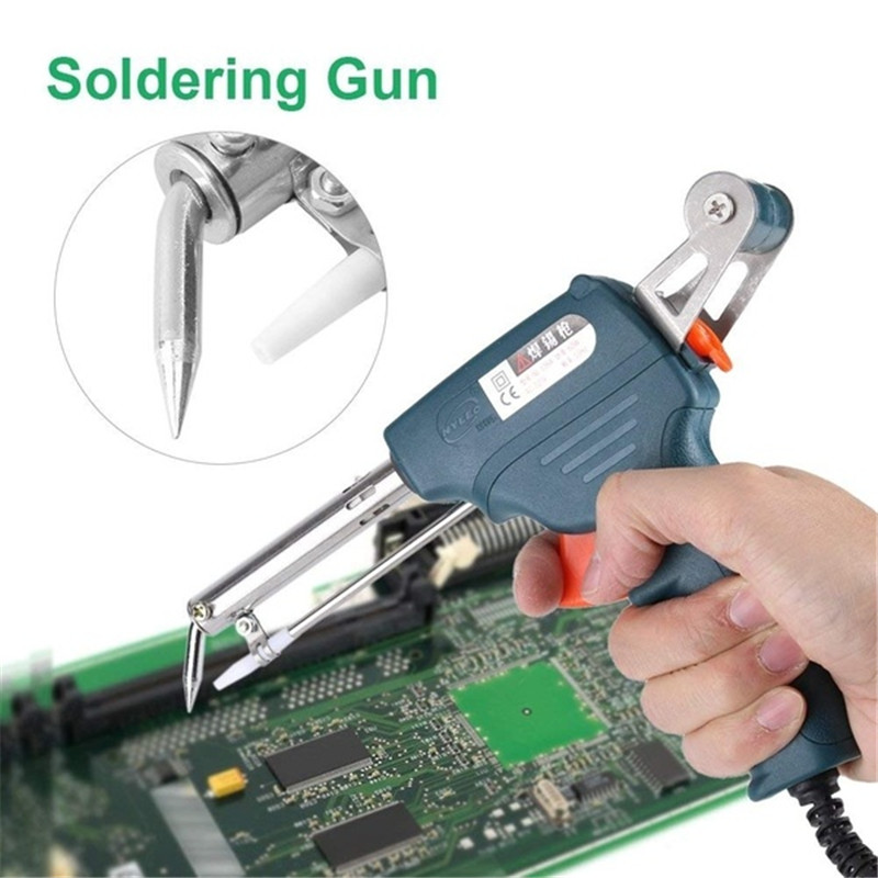 Soldering Iron 60W EU/US Plug Auto Welding Automatic Feed Soldering Temperature Adjustable Fast Heating Repair Tool