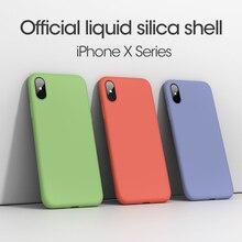 ASINA Case For iPhone 8 7 6 Original Liquid Silicone Plain Color Clear Bumper Plus X Xs Max XR Coque Capa
