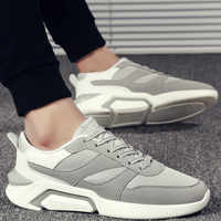 2019 New Trendy Sneakers Men Shoes Breathable Upper Chunky Vulcanized Driving Shoes Black White Shoes Zapatillas Hombre H1-01