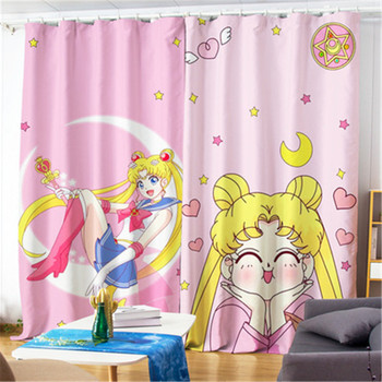 Cartoon Sailor Moon Tsukino Usagi Princess Style High Shading Curtain Fashion Bedroom Bay Window Cloth Curtain X5013
