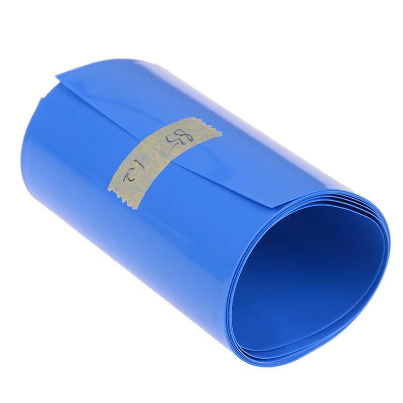 30 ミリメートル-85 ミリメートル 18650 リチウムバッテリー熱収縮チューブチューブリチウムイオンラップカバースキンpvc収縮フィルムテープスリーブアクセサリー