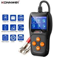 KONNWEI probador de batería KW600 para coche Analizador de sistema de batería 100 2000CCA, comprobador de carga de circuito de carga rápida, 12V