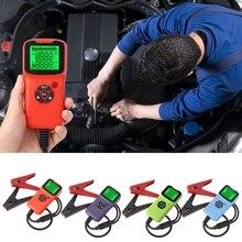 Dijital 12V araba pil Test cihazı araç araba LCD pil Test cihazı otomatik sistem analizörü voltaj ohm CCA testi teşhis araçları