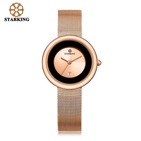 Marca de Luxo Relógio de Quartzo Relógio de Pulso Feminino Relógio Rosa Ouro Pulseira Senhora Moda Casual Aço Inoxidável