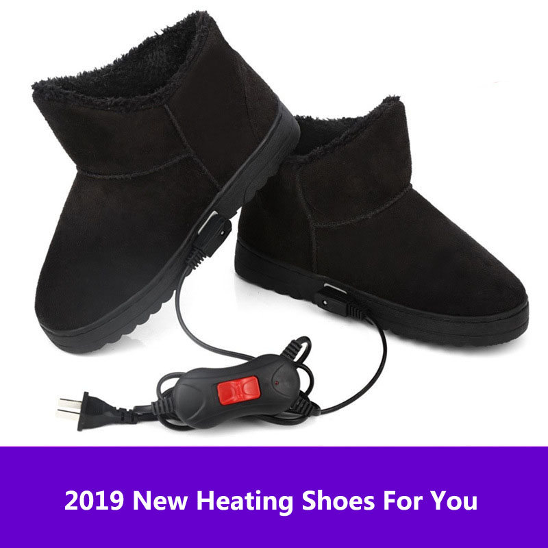 220V Electric Heater Heating Shoes Temperature Control Heater Electric Foot Warmer Heating Boots Foot Winter  Warmer Heating