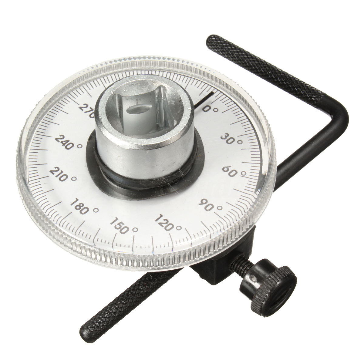Universal Professional 1/2 inch Adjustable Driver Torque Angle Gauge Auto Garage Tool Set 360 Degree Scale for Hand Tools Wrench