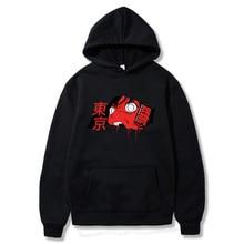 Tokyo Gul Carnegie Split Face Anime Woody Sweatshirt Hip Hop Harajuku Punk Tokyo Girl Print Karajuku Oversized Men Woody