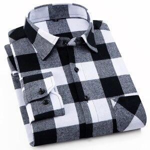Image 2 - AOLIWEN แฟชั่นผู้ชายแขนยาวลายสก๊อตผ้าฝ้าย 100% สบาย Multi สีฤดูร้อนใหม่ผู้ชายแฟชั่นเสื้อต่ำราคา M 5XL