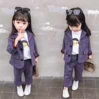 Clothes For Girls Jacket + Pants 2PCS Kids Clothes toddler Girls Spring Autumn Children's Suit Set outfits 2 3 4 5 6 8 Year