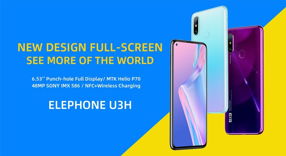 ELEPHONE U3H Helio P70 Octa Core Smartphone Better Than Xiaomi Mi 10 Redmi Note 7 Note 8 6.53 FHD+ 128GB  256GB 24MP Selfie 48MP Dual Camera NFC Android 10 Mobile Phone (2)