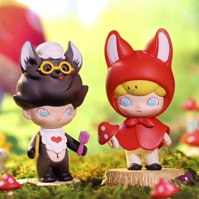 POP MART Dimoo peri masalı serisi koleksiyonu Doll koleksiyon sevimli aksiyon Kawaii hayvan oyuncak figürler ücretsiz kargo