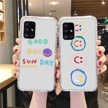 S21 FE Smile Face Case For Samsung M21 M31 M42 M02 F41 A52 A72 A32 A82 A71 A51 A41 A40 A22 A21S A70 A11 A42 A10 A02 Case Cover