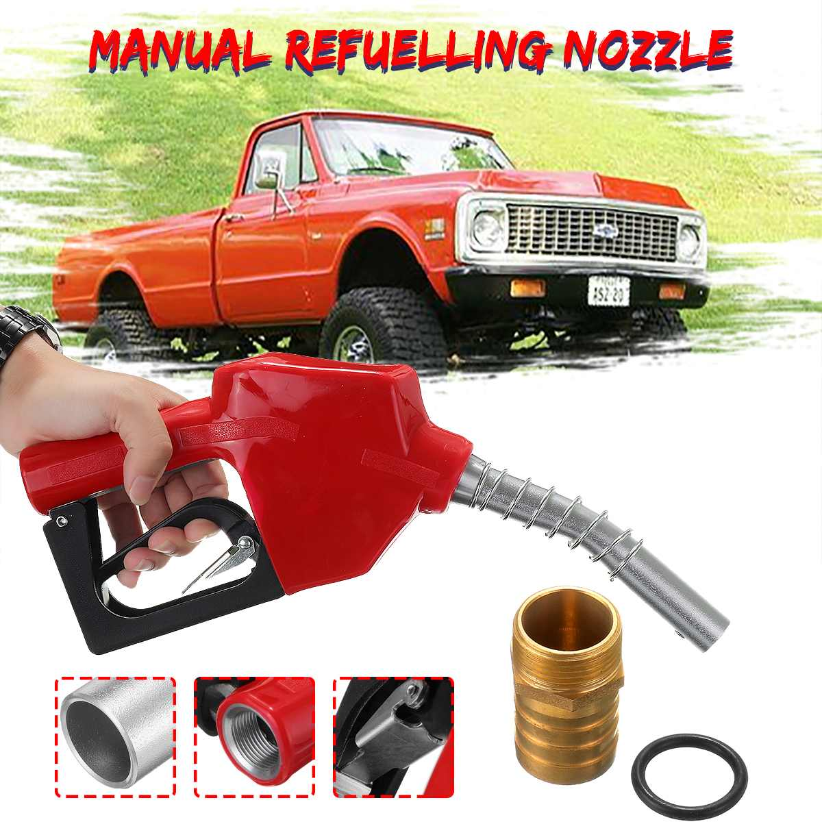 refilling nozzle gun Automatic Cut off Fuel Refilling Nozzle Diesel Oil Dispensing Oil Water Refueling Gun