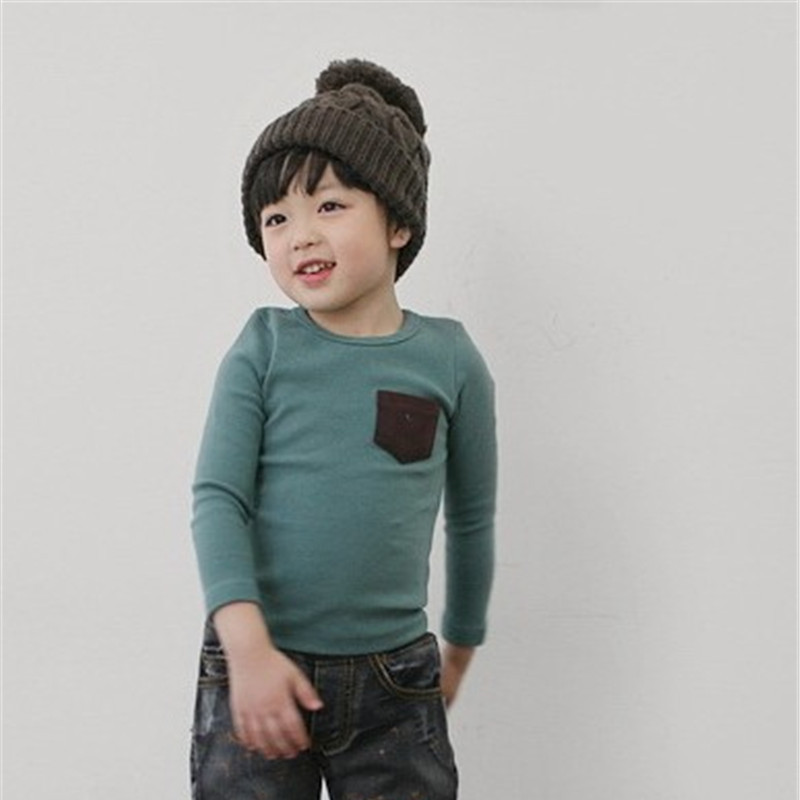 Teenager Baby T-shirt For Toddler Boys Girls Long Sleeve Tee Tops Soft Clothes Kids Long Sleeve T-shirt Cotton Tops Candy Color