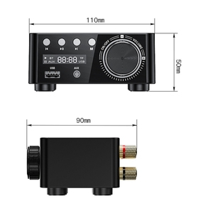 Image 2 - 50W x 2 Mini Class D Stereo Bluetooth 5.0 Amplifier TPA3116 TF 3.5mm USB Input Hifi Audio Home AMP for Mobile/Computer/Laptop