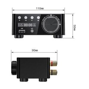Image 2 - 50W x 2 Mini wzmacniacz klasy D Stereo Bluetooth 5.0 TPA3116 TF 3.5mm wejście usb Hifi Audio wzmacniacz domowy do telefonu komórkowego/komputera/laptopa