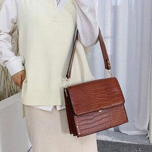 Image 4 - [BXX] Stone Pattern PU Leather Crossbody Bags For Women 2020 Autumn Brand Designer Shoulder Messenger Bag Female Handbags HI917