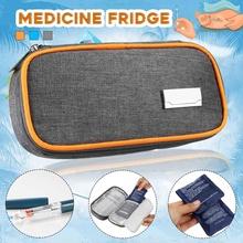 Aequeen insulina fajna torba termiczna przenośna medycyna lodówka w 2 worek na lód pudełko na pigułki Bolsa Termica folia aluminiowa worek na lód torba na zewnątrz tanie tanio Oxford Insulin Cool Cooler Bag TERMICZNE