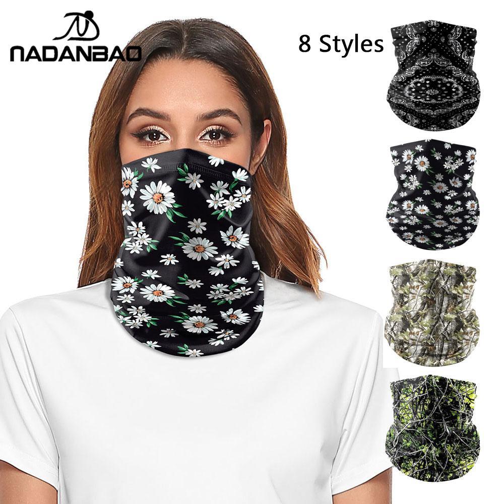 NADANBAO Mandala Scarf Camouflage Balaclava Variety Tube Headband Headwear Bicycle Head Scarf Snowboard Headscarf Half Face Mask