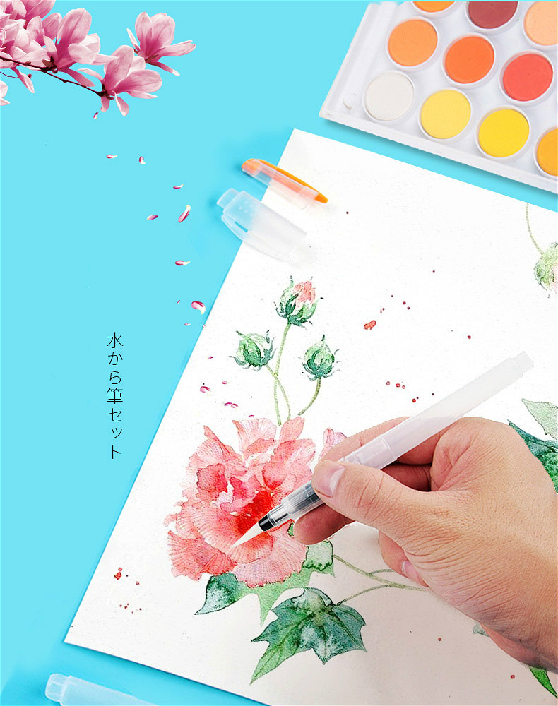 H7e1f39251e6f4561b58e18acede54774C - 1PC Portable Paint Brush Water Color Brush Pencil Soft Watercolor Brush Pen for Beginner Painting Drawing Art Supplies