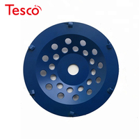 PCD05 Diamond Bond Concrete Grinder 7 Inch PCD Polishing Wheel Grinding Disc for Epoxy Glue Coating Removing 9PCS