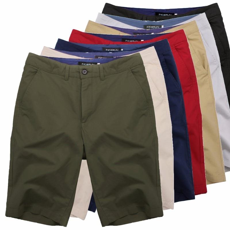 2020 Casual Summer Shorts Men Cotton Knee Length Chinos Shorts Vintage Casual Men Shorts Fashion Masculina Big Large Size 44