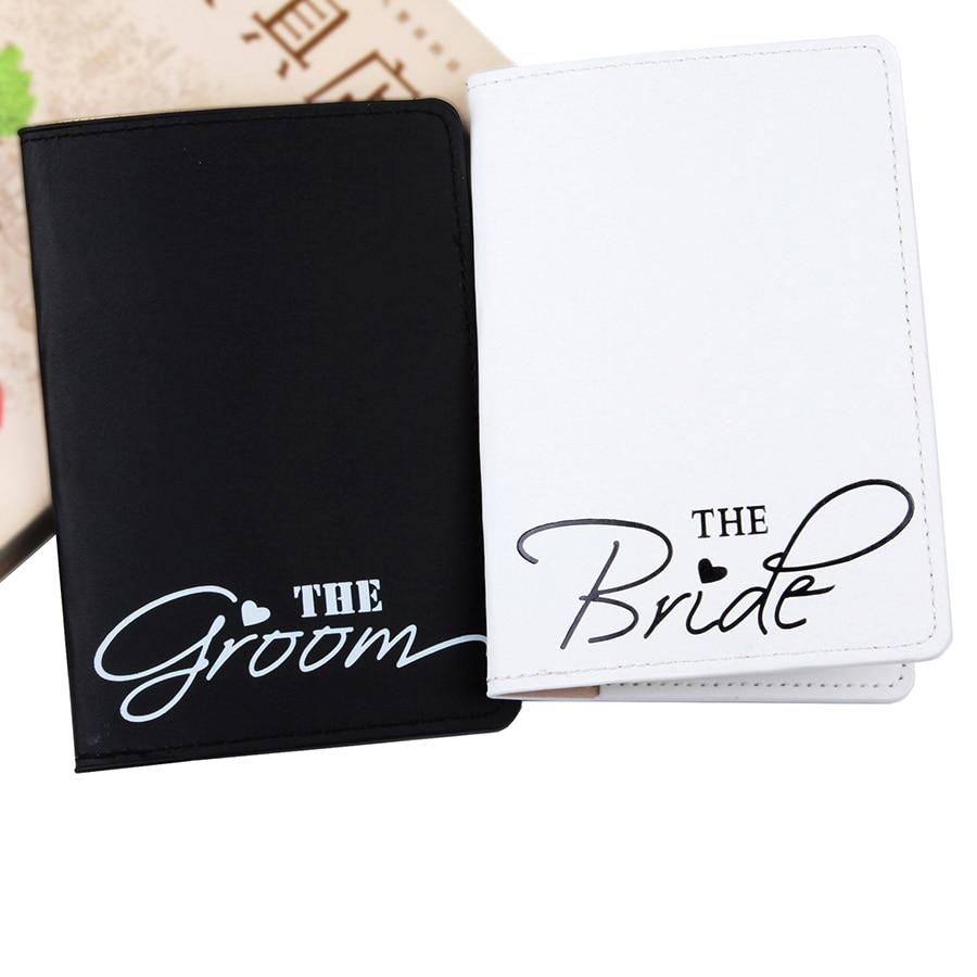 Bride&Groom Lovers Passport Cover Card Case Women Men Travel Credit Card Holder Travel ID&Document Passport Holder CH11A