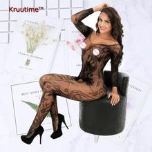 93.40% spandex 6.6% nylon lingerie sexy hot erotic apparel cross v neck mesh knitted dress costume