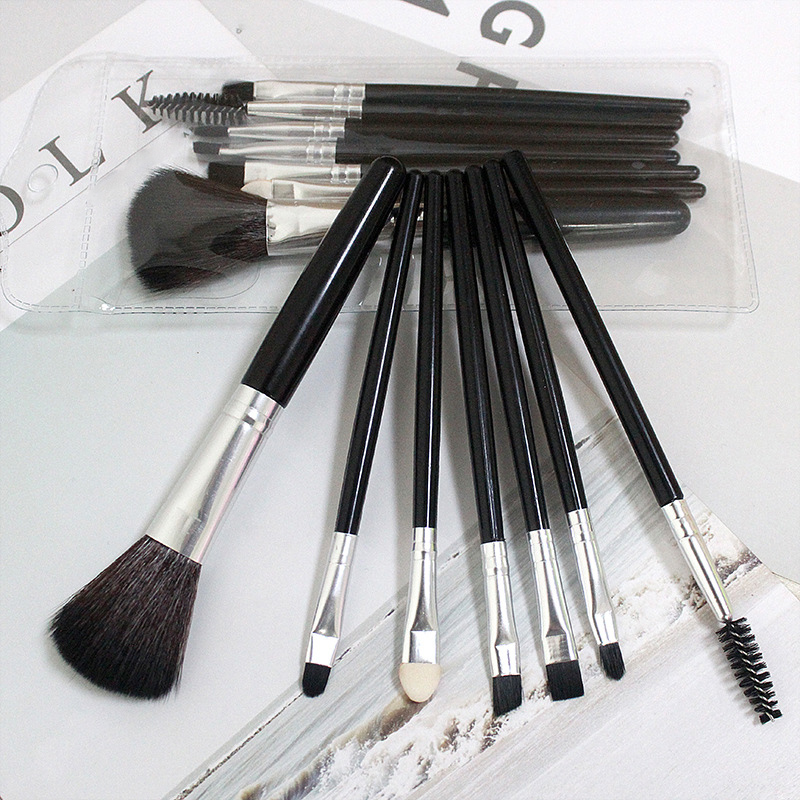Kit de pinceaux de maquillage professionnels, 7 pièces, poudre de fond de teint, ombre à paupières, ombre à cils, brosse à lèvres, outil cosmétique