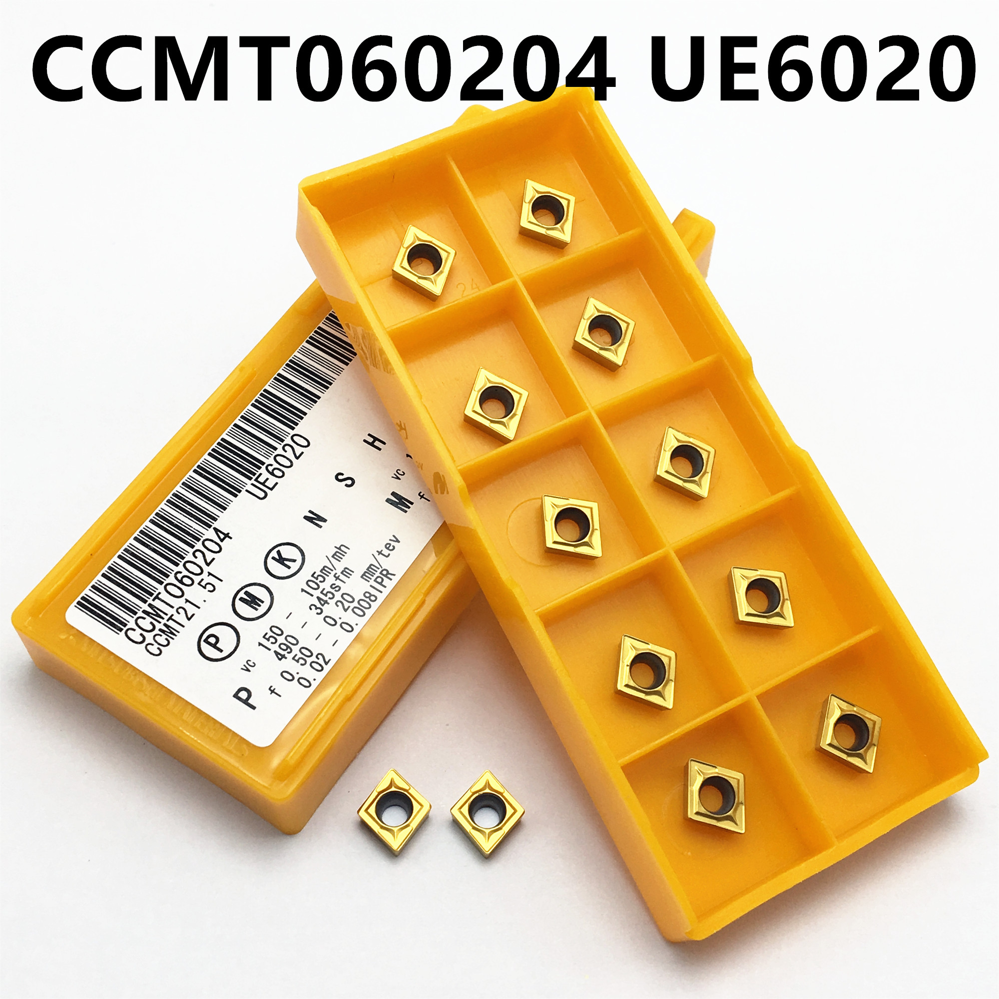 Carbide CCMT060204 VP15TF UE6020 US735 Internal Lathe Tool Milling Cutter Tungsten Carbide Ccmt 060204