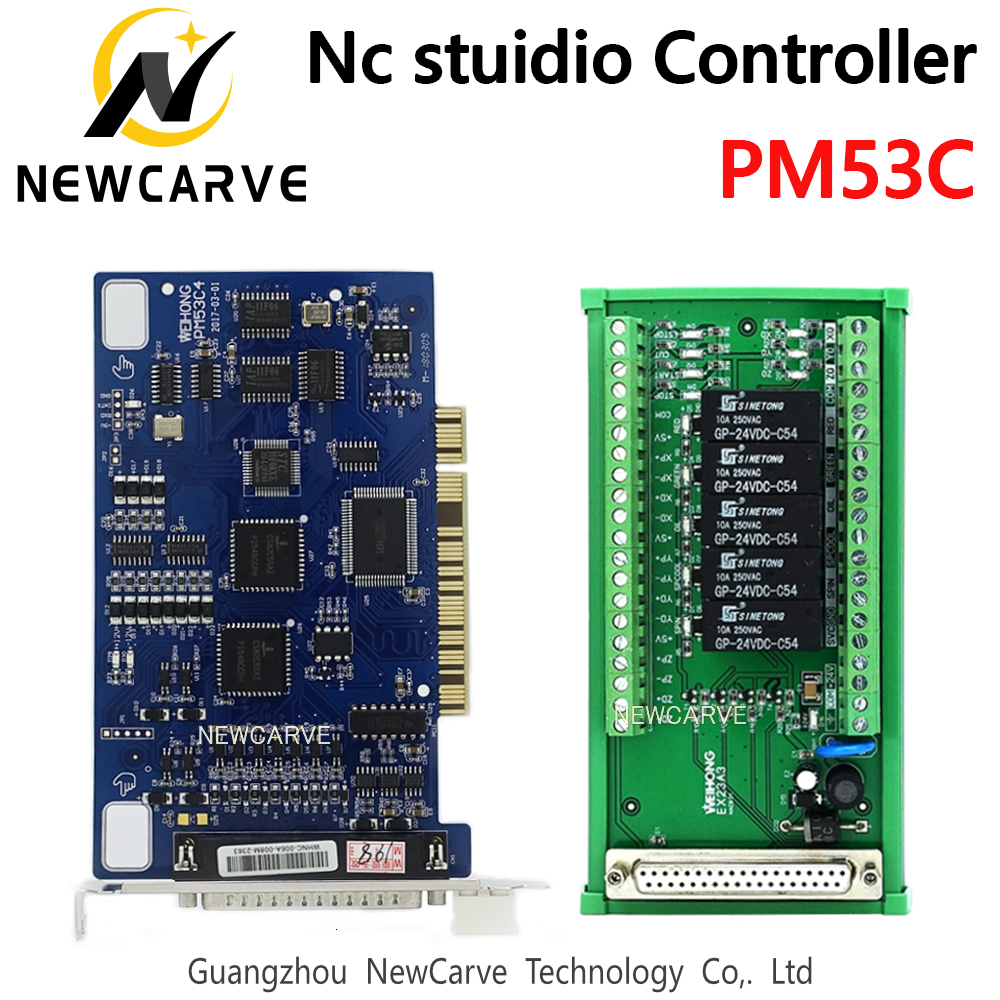 PM53C Nc Studio 3 Axis Controller Compatible WEIHONG Control System For CNC Router NEWCARVE