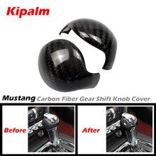 Kipalm Per Ford Mustang In Fibra di Carbonio Pomello Del Cambio Della Copertura e Ford Mustang Accessori Interior Gear Pomello del cambio Maniglia Sticker
