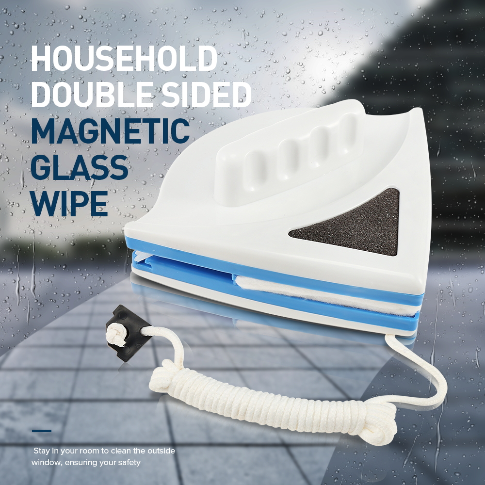 Double-sided Magnetic Glass Wipe Two Small Practical And Convenient Cleaning Window Glass Cleaner Magnetic Brush