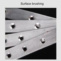 Staffe di rinforzo diritte piatte in acciaio inossidabile da 10 pezzi piastre di riparazione di riparazione connettore di fissaggio staffe angolari più recenti, fissaggio
