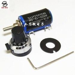 1 комплект WXD3-13-2W проволочный потенциометр сопротивление 100R 470R 1K 4,7 K 10K 22K 47K 100KΩ ом + точность циферблат потенциометра