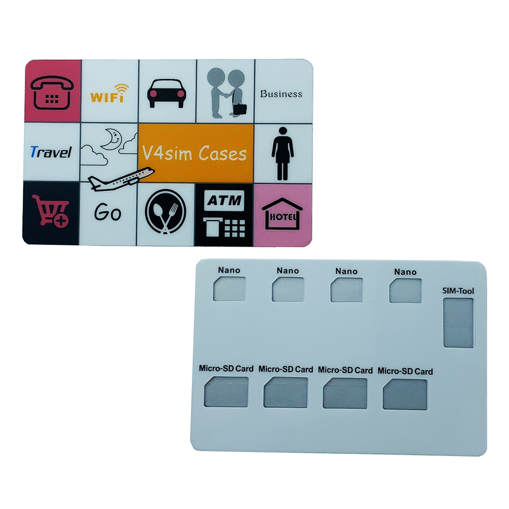 Nano Card And Pin Holder, Holds 4 Pcs Nano Cards ,4 Pcs TF Card And Lphone Pin