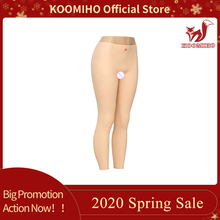 KOOMIHO 9-Point Long Silicone Pant Realistic Vagina Panties Crossdresser Sexy Pussy Underwear Transgender Drag Queen Shemale 1G