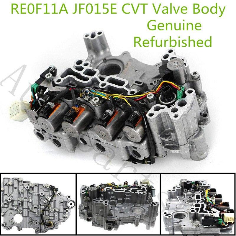 100% trabalho great-re0f11a jf015e corpo da válvula de transmissão cvt para chevrolet spark suzuki para nissan note sentra tiida versa