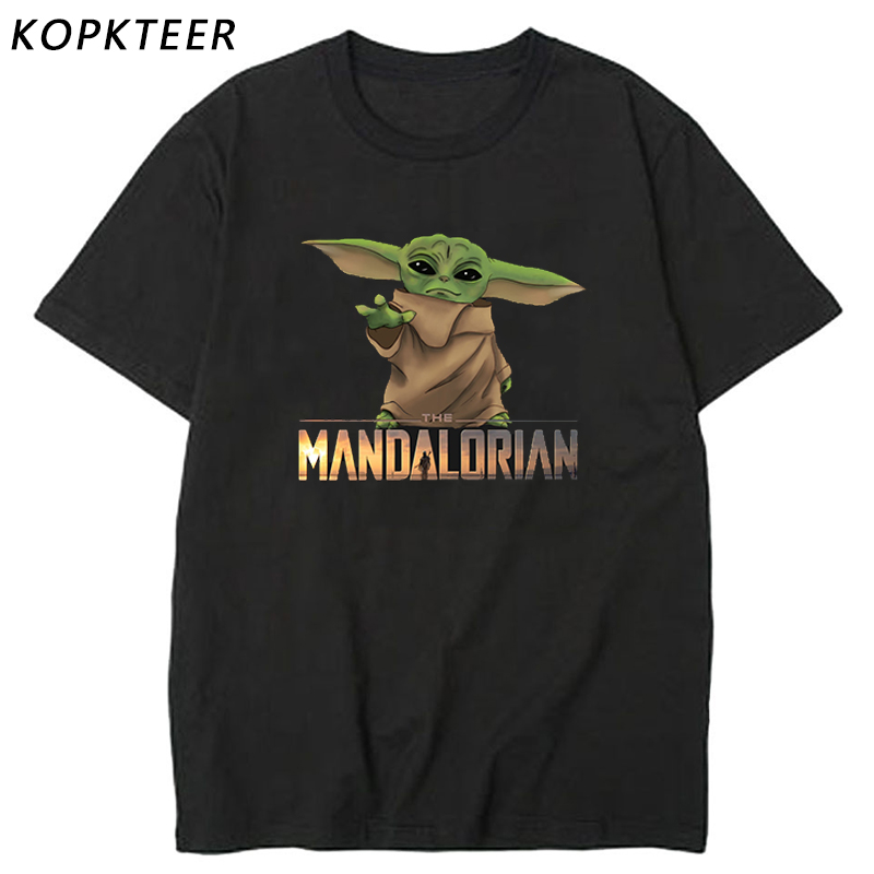 Lovely Baby Yoda Mandalorian T Shirt Men/women Movie T-shirt Streetwear Tshirt Male/female Top Tee Trend Fans Apparel