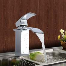 Смеситель для раковины латунный хромированный Водопад кухонной