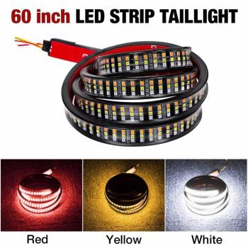 "12V Universal 60"" Car/Truck Tailgate Triple Row LED Strip Light Bar with 5 Light Modes"