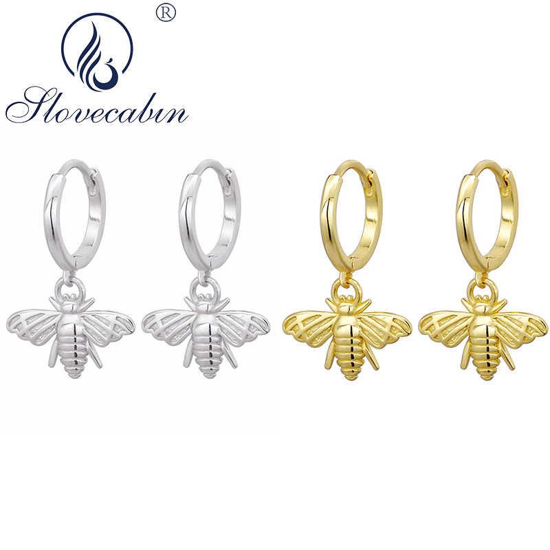 925 Sterling Silver Bee Huggie Hoop Earrings