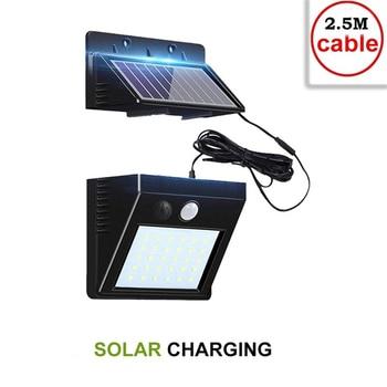 30 LEDs Solar Light PIR Motion Sensor Solar Garden Light Waterproof Outdoor Energy Saving Street Yard Path Home Lamp indoor home