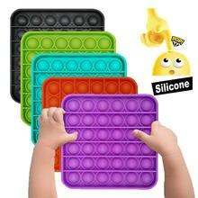 Push Pops Bubble sensoryczna zabawka dla dzieci autystycznych Squishy Stress Reliever zabawki dla dorosłych Kid śmieszne antystresowe wyskakuje to Fidget Reliever stres
