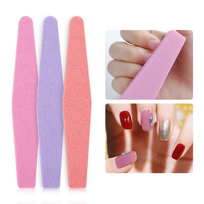 Nail File 100/180 Sanding Buffer Block Pedicure Manicure Buffing Polishing Nail Art Tools Professional Nail Files For UV Gel