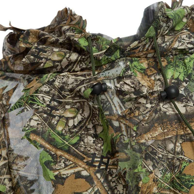 迷彩 3D 葉マント Yowie の Ghillie 通気性オープンポンチョタイプ迷彩バードウォッチングポンチョ狙撃スーツ