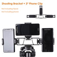 """Smartphone Selfie Shooting Holder Camera Phone Tripod Bracket w Phone Clip 1/4"""" Stand for Huawei iphone INS Youtube Facebook"""