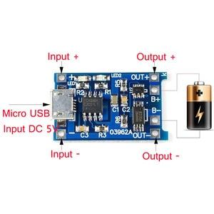 Image 5 - 5 個 TP4056 5V 1A マイクロ USB 18650 リチウム電池の充電ボード充電器モジュール保護 arduino の diy キット送料無料
