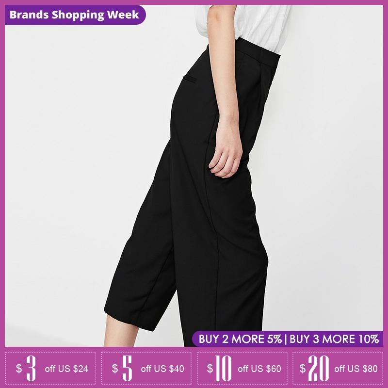 Vero Moda Womens Spring & Summer Mid-rise Straight Fit Capri Pants|31916J531