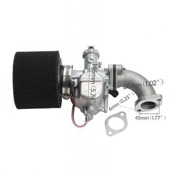 Real Mikuni VM22 26mm Carburetor Intake Manifold Pipe Air Filter for 110cc 125cc 140cc Motorcycle Pit Dirt Bike